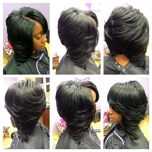 Black Layered Bob Hairstyles