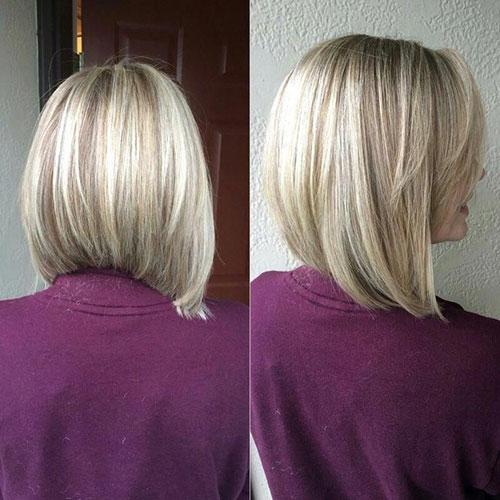 Long Angled Bob Haircut