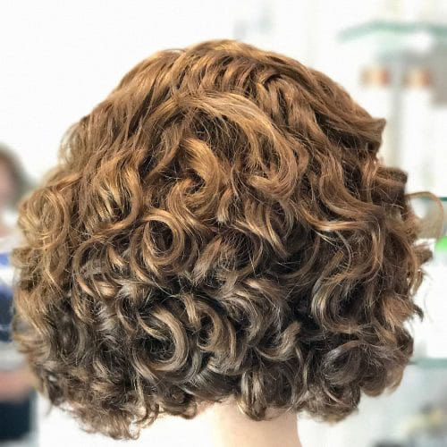 Layered Bob Curly Hair