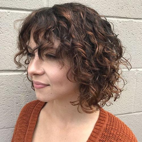 Layered Curly Hair Bob