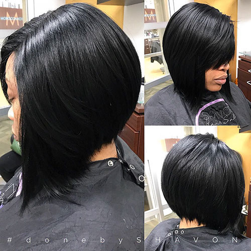 Layered Bob Hairstyles For Black Hair