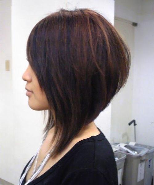 Long Angled Bob Hairstyles