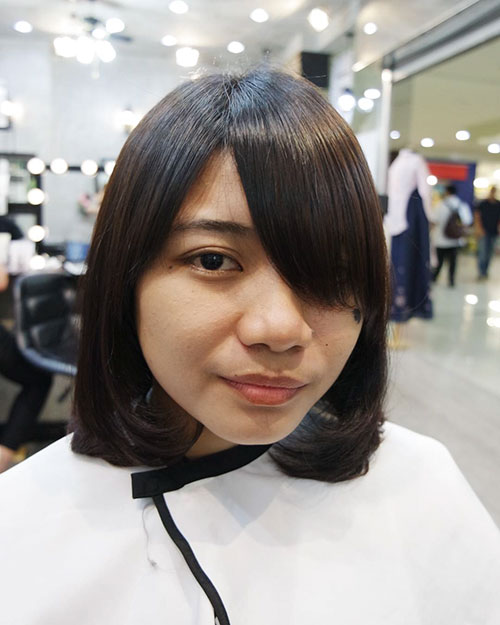 Bob And Bangs For Round Face