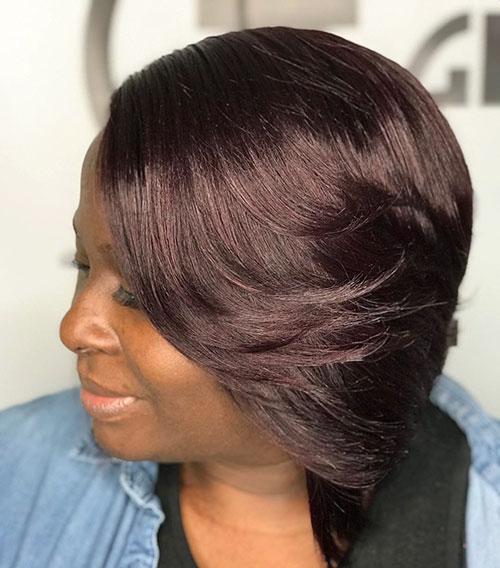 Layered Bob Cut For Black Hair