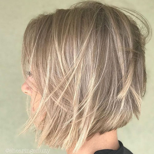 Messy Bob Hair Cut