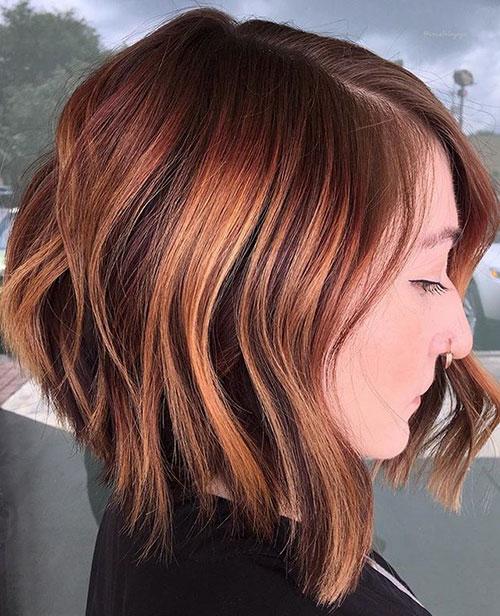 Textured Long Bob Haircut
