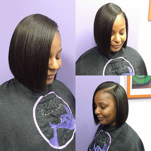 A Line Haircut And Medium Hair